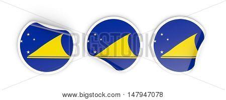 Flag Of Tokelau, Round Labels