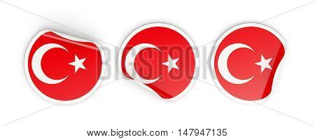 Flag Of Turkey, Round Labels
