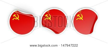 Flag Of Ussr, Round Labels