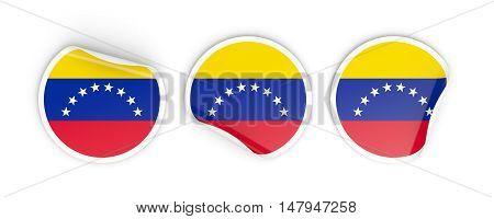 Flag Of Venezuela, Round Labels