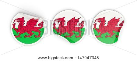 Flag Of Wales, Round Labels