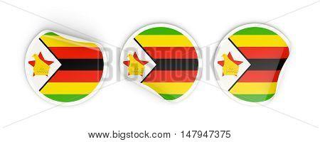 Flag Of Zimbabwe, Round Labels