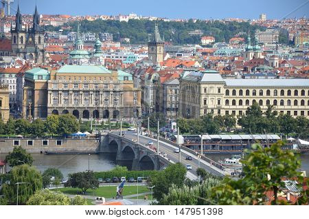 Prague bridge in old town, Czech Republic