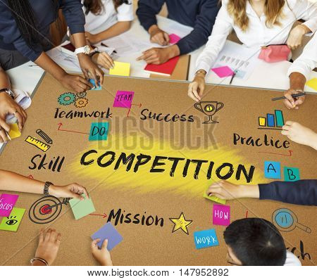 Competition Goal Aim Success Development Concept