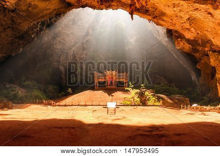 Royal pavilion in the Phraya Nakhon Cave Prachuap Khiri Khan Thailand