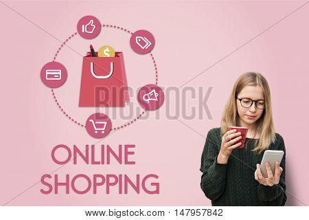 Shopping Online Buy Sale Shopaholic Concept