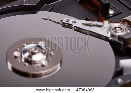 Hard disk inside, electronic components, hard disk device, digital technology, the information storage, elements of the personal computer