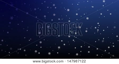 Christmas a background with falling snowflakes Vector