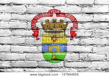 Flag Of Porto Alegre, Rio Grande Do Sul, Brazil, Painted On Brick Wall