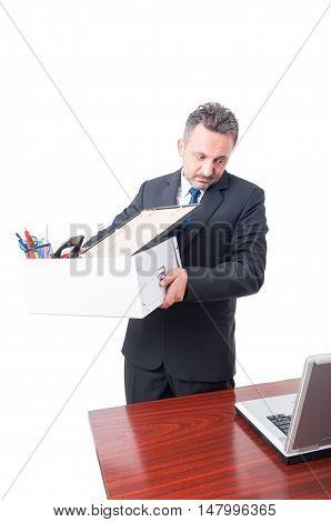 Man Leaving Office As Being Dismissed