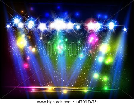 party, stage, disco, light, spotlights background