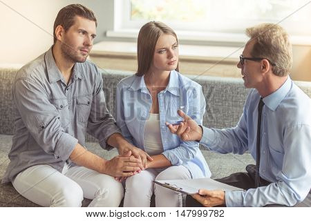 Couple At The Psychotherapist