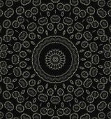 Abstract pattern background and with black round elements poster