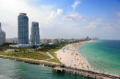Aerial view of South Miami Beach poster