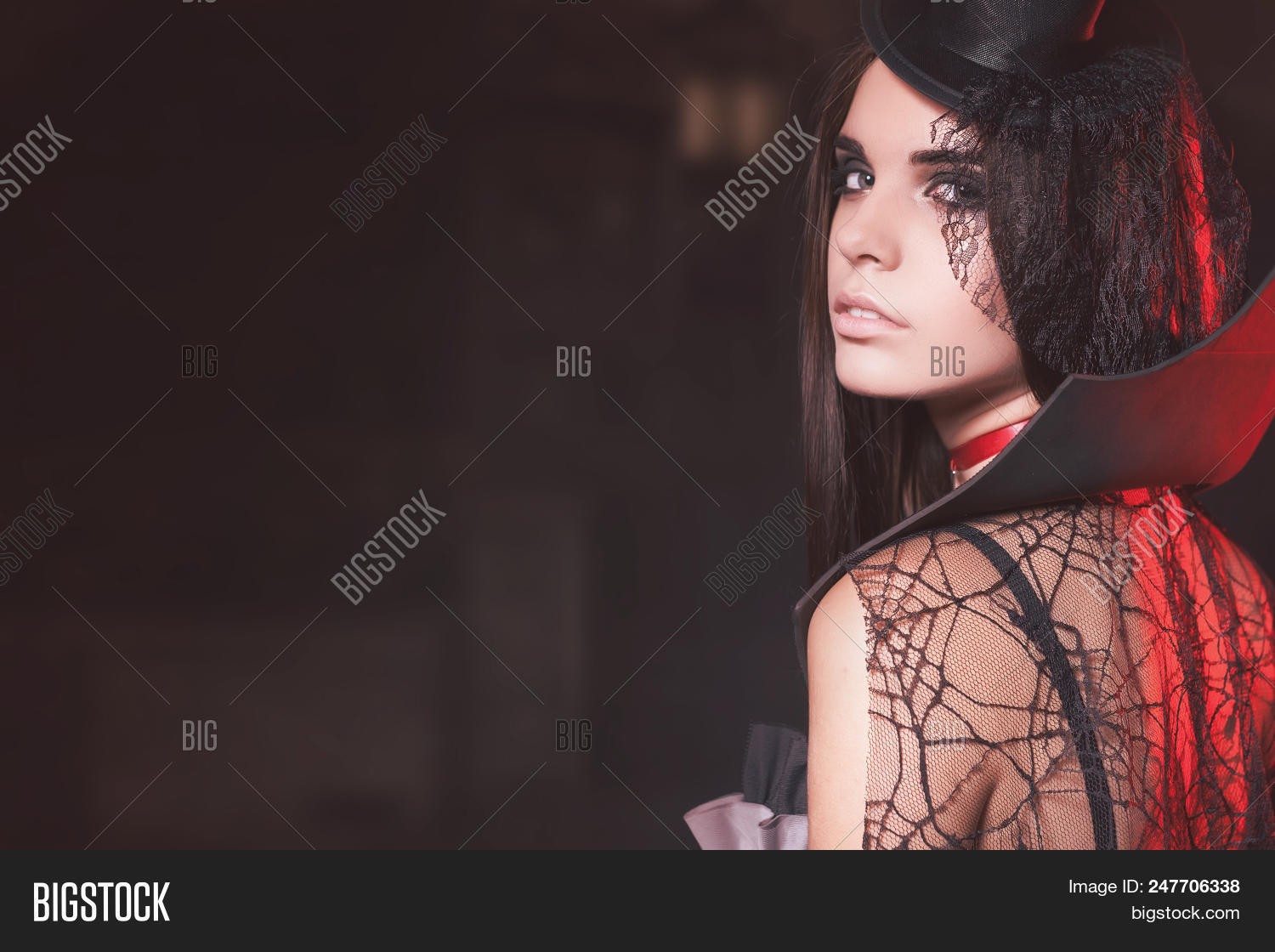 Old Fashion Image Of Halloween Party 2018, Sexy Girl At Haloween In  October. Sexy