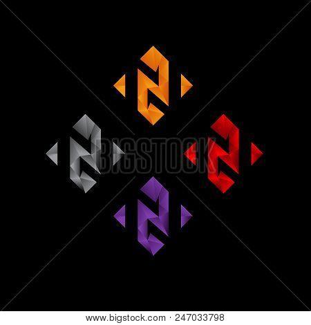 Abstrak N Surat Logo Vector Photo Free Trial Bigstock