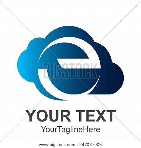 Abstract Cloud Letter E Logo Design Template Elements. Abstract Letter E.business Corporate Letter E