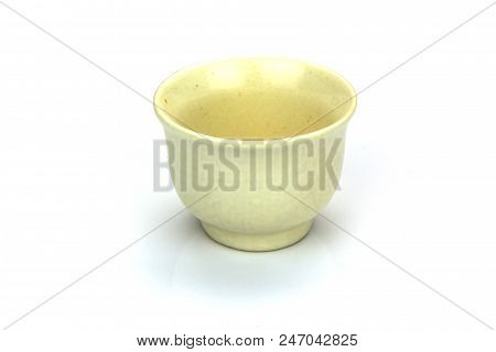 Antique Tea Cup Isolated On White Background