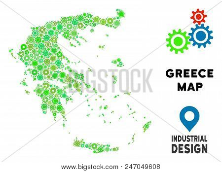 Gear Greece Map Vector & Photo (Free Trial) | Bigstock