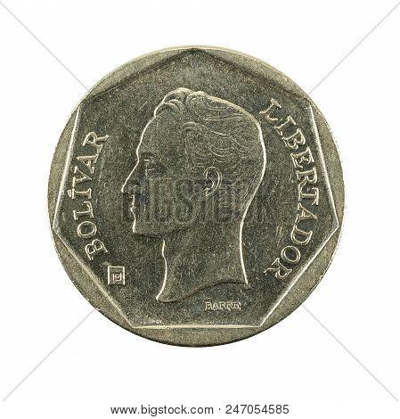 100 Venezuelan Bolivar Coin (1999) Reverse Isolated On White Background