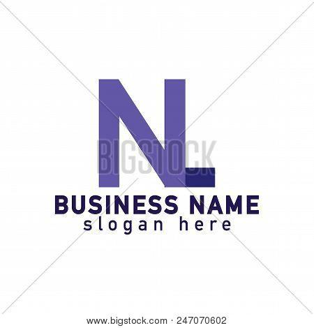 N L Letter Linked Logo Vector, Font Letter Logo Template