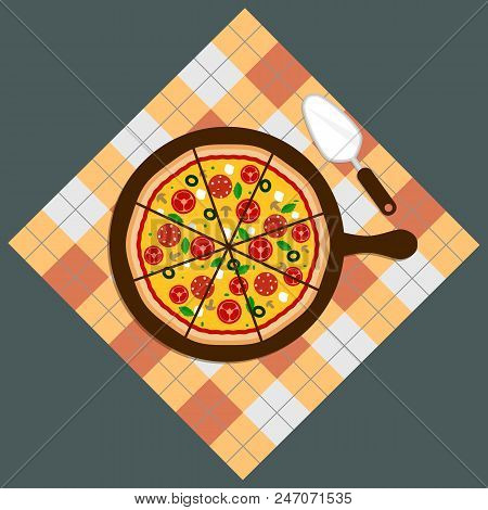 Pizza. Pizza Delivery.pizza On Chalkboard Background. Pizza Bar. Pizza Menu Eps10
