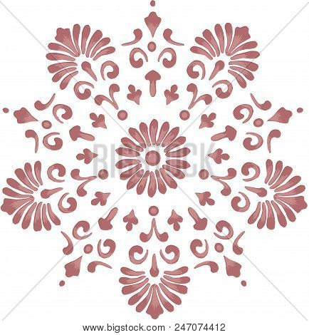 Scalable Vectorial Representing A Ornate Floral Design Element, Element For Design, Illustration Iso