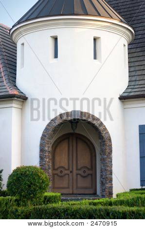 Arched Entryway To Upscale Home