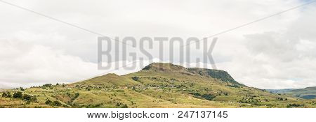 A Mountain Landscape With The Nkumba Township Between Boston And Bulwer In The Kwazulu-natal Provinc