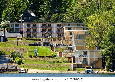A Motel By The Water In Lake George New York