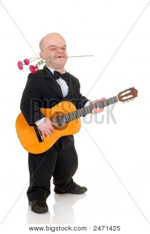 Dwarf, Little Man With Rose