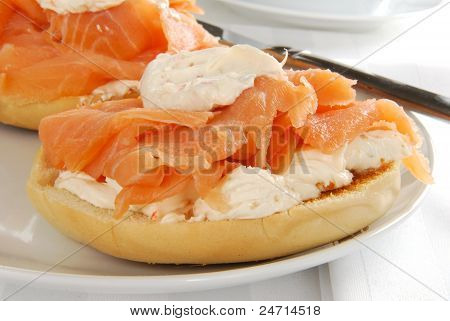 Bagle With Lox And Cream Cheese