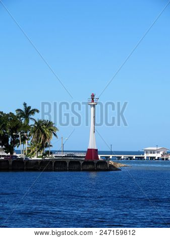Baron Bliss Lighthouse on the island of Belize poster