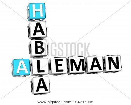 3D Habla Aleman Crossword