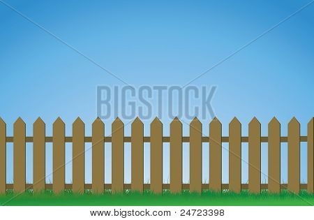 brown picket fence