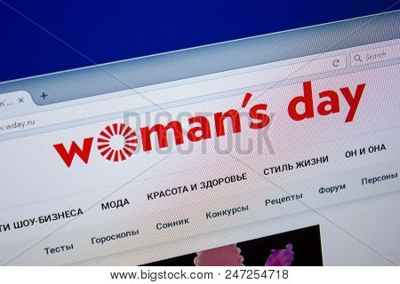 Ryazan, Russia - June 26, 2018: Homepage Of Wday Website On The Display Of Pc. Url - Wday.ru