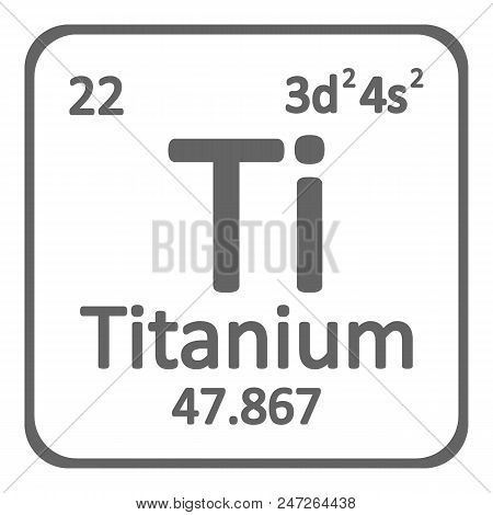 Periodic table vector photo free trial bigstock periodic table element titanium icon on white background vector illustration urtaz Choice Image