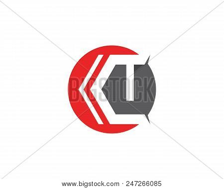 Ct ,t Logo Template Vector