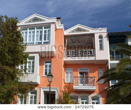 Traditional house located at Thessaloniki city in Greece. Area of the old city. poster