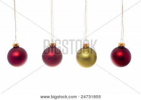 Gold Red Christmas Ball