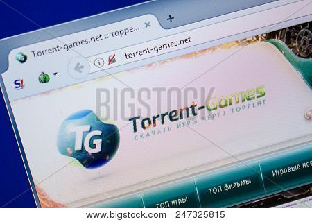 Ryazan, Russia - June 26, 2018: Homepage Of Torrent-games Website On The Display Of Pc. Url - Torren