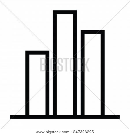 Graph Icon With Outline Style Vector Illustration