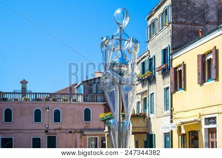 Murano, Italy - April 25, 2008:  A Typical Glass Work By Denise Gemin In Bressagio Street