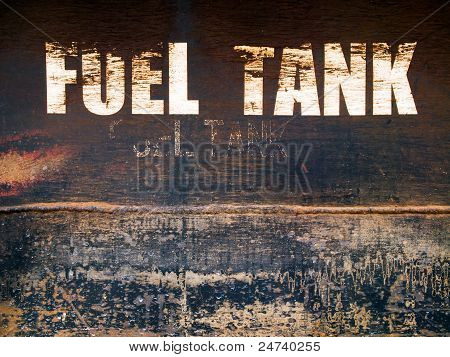 Rust Steel Fuel Tank