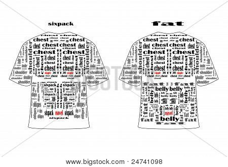 Pattern men t-shirts.