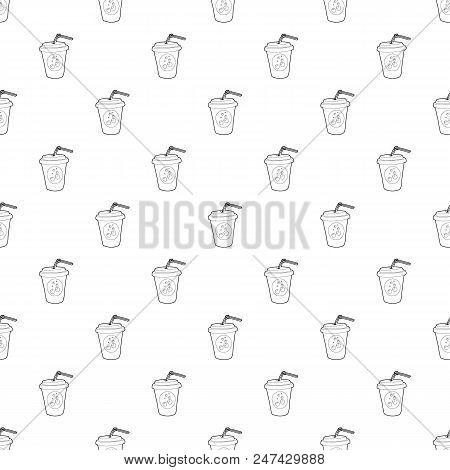 Plastic Cup Of Limonade Icon. Outline Illustration Of Plastic Cup Of Limonade Vector Icon For Web De