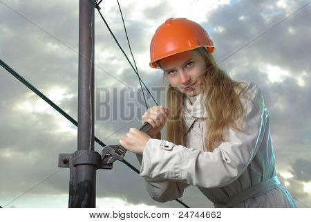 Girl in a spanner