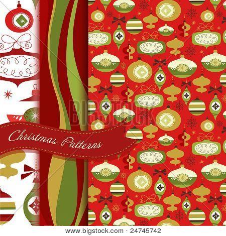 Set of Retro Christmas patterns