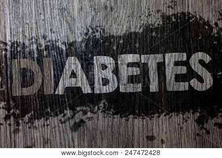 Text Sign Showing Diabetes. Conceptual Photo Chronic Disease Associated To High Levels Of Sugar Gluc