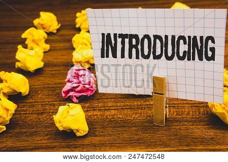 Conceptual Hand Writing Showing Introducing. Business Photo Text Presenting A Topic Or Someone Initi